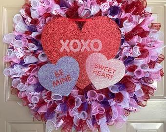 Valentines Wreath, Valentines Day Wreath, Heart Wreath, Love Wreath, Porch Wreath, Outdoor Wreath