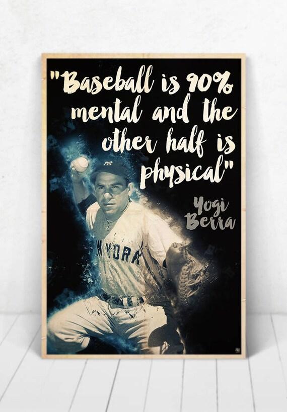 Yogi Berra Illustration / Yogi Berra Poster / Yogi Berra / Yankees / #8