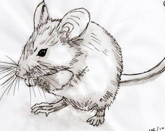 Inktober #17 2017 - Mouse [PRINT]