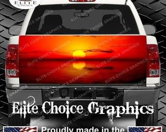 Summer Nights Sunset Truck Tailgate Wrap Vinyl Graphic Decal Sticker Wrap