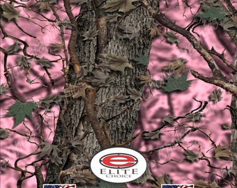 "Hybrid Camo Pink 15""x52"" or 24""x52"" Truck/Pattern Print Tree Real Camouflage Sticker Roll or Sheet"