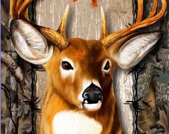 Wicked Wire Camo Deer Buck LAMINATED Cornhole Wrap Bag Toss Decal Baggo Skin Sticker Wraps