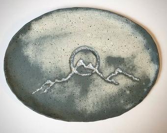 Mountain Stoneware serving tray