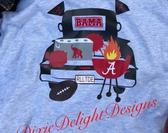 Alabama Roll Tide Tailgate Truck Raglan Shirt