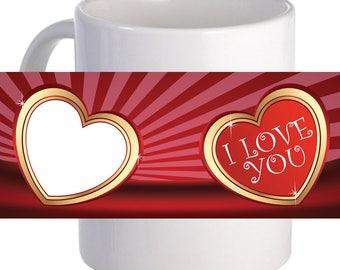 """Personalized """"Heart Shine Photo"""" Beautiful Decorative Coffee Mug"""