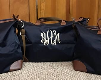 Monogram Weekender-Canvas Weekender Bag-Personalized Weekender-Monogram Overnighter-Weekender-Canvas Weekender Bag-Gift for Her-Gift for Mom