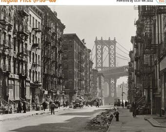 ON SALE Pike and Henry Streets - New York City - 1935 - Vintage - Photo - Manhattan - Photography - NYC - Brooklyn Bridge - History - Print
