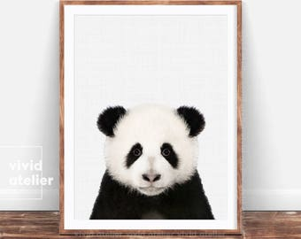 Panda Wall Print, Baby Shower, Panda Poster, Panda Bear, Nursery Panda, Animal Print, Nursery Wall Art, Nursery Print, Nursery Decor