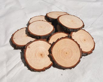 20 wood slices 6 8 cm rustic wood rounds 3 inch wood for Wholesale wood craft cutouts