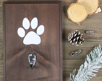 Dog Leash Holder | Pet Leash Holder | Wooden Leash Holder | Dog Decor | Home Decor | Wall Decor | Housewarming Gift | Dog Lover Gift