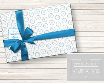 Wrapping Paper, Branded Wrapping Paper, Wrapping Paper With Logo, Custom Wrapping Paper, Christmas Wrapping Paper, Holiday Wrapping Paper
