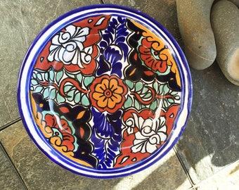 Fabulous Mexican Talavera Ceramic Bowl Colorful Puebla Mexico