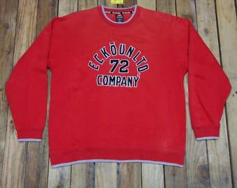 ECKO UNLTD Sweatshirt Large Red Ecko Unlimited Hip Hop Vintage 90's Ecko Function Streetwear Sportswear Pullover Jumper Ecko Sweater Size L