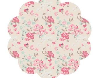 Vintage floral cotton fabric supply. Pastel floral fabric. DIY sewing/craft cotton fabric. Quilting/apparel cotton fabric. Vintage cottons.