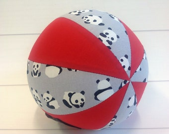 Balloon Ball Baby, Balloon Cover, Balloon Ball, Ball, Kids, Panda Bears, Red,Grey , Portable Ball, Travel Toy, Travel, Eumundi Kids, Eumundi