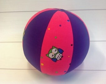 Balloon Ball Baby, Balloon Cover, Balloon Ball, Ball, Kids, Owls, Pink, Purple, Portable Ball, Travel Toy, Travel, Eumundi Kids, Eumundi