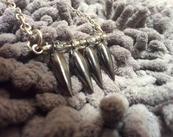 Gray Arrow Necklace