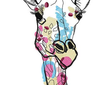 Spirit giraffe Machine Embroidery Design, Embroidery giraffe 8*12