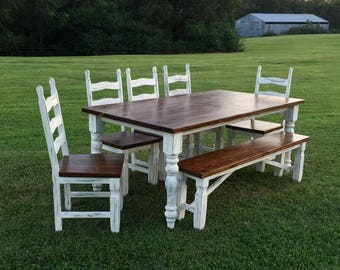 Farm style table and chairs