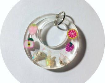 Welo opal & cute fruit pendant.