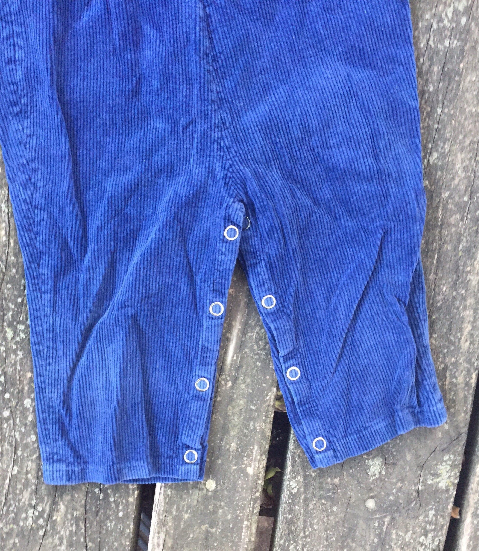 Vintage 24 Months Overalls Corduroy Blue Kmart Baby Toddler Kids