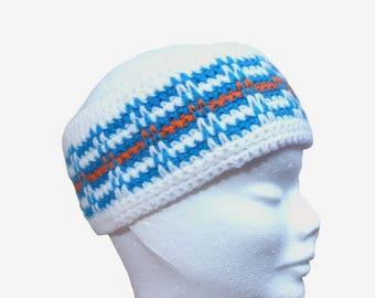headband ear warmer fleece lining, sports figure hand-made (TM)