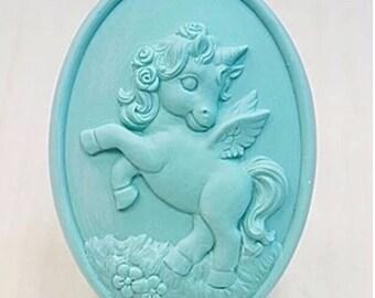 Unicorn Soap,Pegasus,Kids Birthday Favors,Pony,Childrens Soap