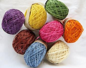 PIneapple Fique / Pineapple Fiber / Sustainable / Handmade / DIY Crafts / Basketry /  Knitting / Crochet Weaving Yarn Habu FQ1
