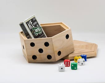Old School Poker box, Dice Box, Stash Box, Jewelry Box, Game Box, Wood Box, Jewelry Box