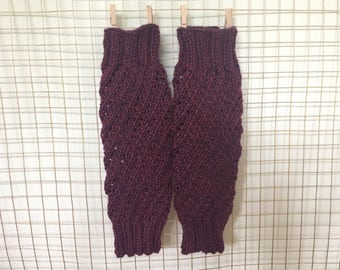 Rosa Red Lace Legwarmers