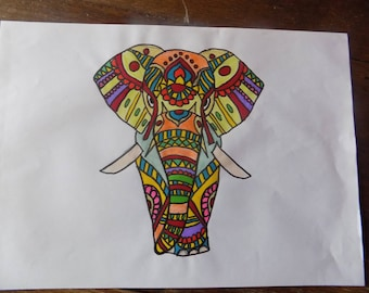 elephant colors thousand designs
