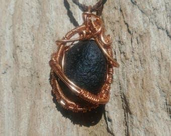 Gorgeous meteorite glass pendant