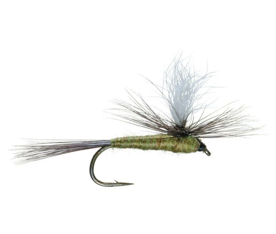 Parachute Blue Winged Olive - BWO - Classic Dry Fly - Hook Size 16 - Hand-Tied Fly Fishing Trout Flies