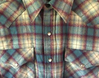 Vintage Pendleton 100% Virgin Wool Western Shirt Mens Medium