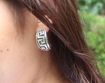Egyptian Earrings, Sterling Silver Earrings, Silver Ear Accessories, Bohemian Earrings, Silver Earrings, Gift Earrings, (E122)