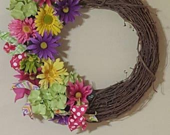 Beautiful Colorful Summer Wreath