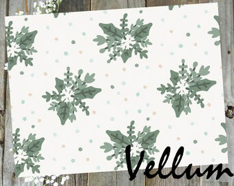 Wintergreen // Vellum Printed TN Travelers Notebook Ephemera Planner Decor