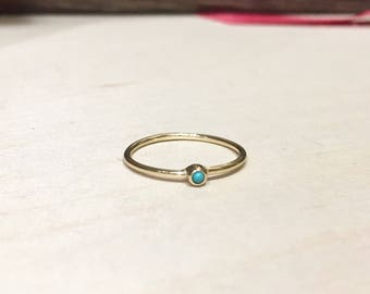 Turquoise stone with Gold Ring