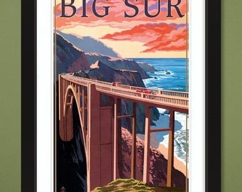 California – Big Sur – Bixby Bridge (12x18 Heavyweight Art Print)