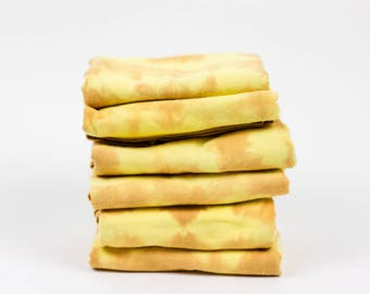 Shibori Hand-Dyed Yellow Cotton Napkins
