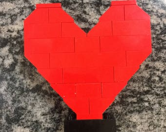Custom Lego Valentine Love Heart - Free Shipping!!