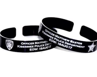 Officer Matthew Baxter Memorial Bracelet.