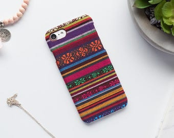 Fabric iPhone Case iPhone 8 iPhone 7 iPhone 6 iPhone Case iPhone Cover iPhone X Case iPhone 7 Plus iPhone 6 Plus Real Fabric Pattern Case 6s