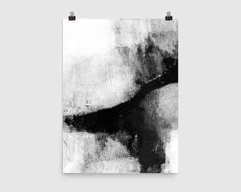 Black & White Abstract Painting, Scandinavian Print, Minimalist Painting, Abstract Minimalist, Contemporary Art, Giclee Print, Urban Art