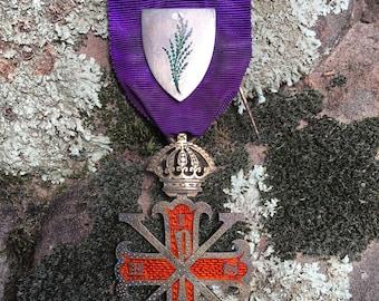 Antique British Masonic Red Cross Of Constatine Medal