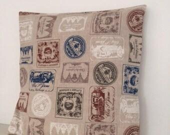 Linen & cotton beige pillow cover