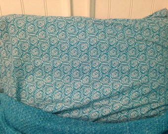 Blue and white rose standard pillowcase