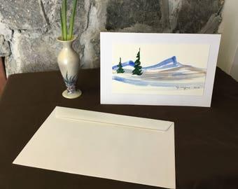 Watercolour Landscape Card