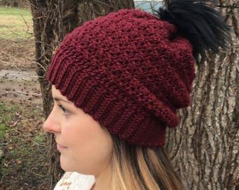 The Arya Beanie, Slouchy beanie, Slouchy crochet beanie