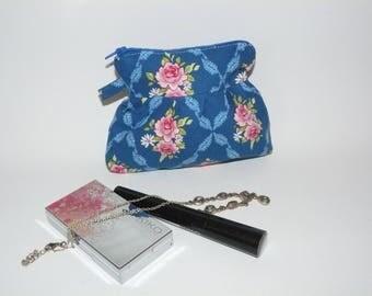 Blue tilda fabric makeup bag